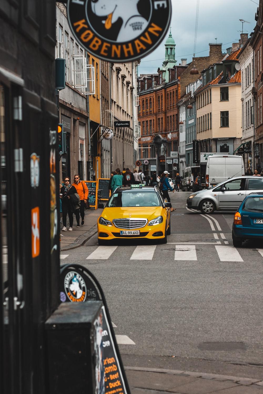 yellow vehicle