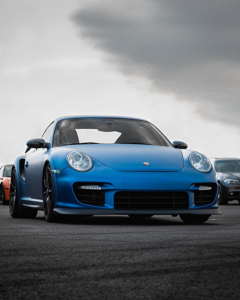 blue luxury car