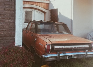 parked brown car