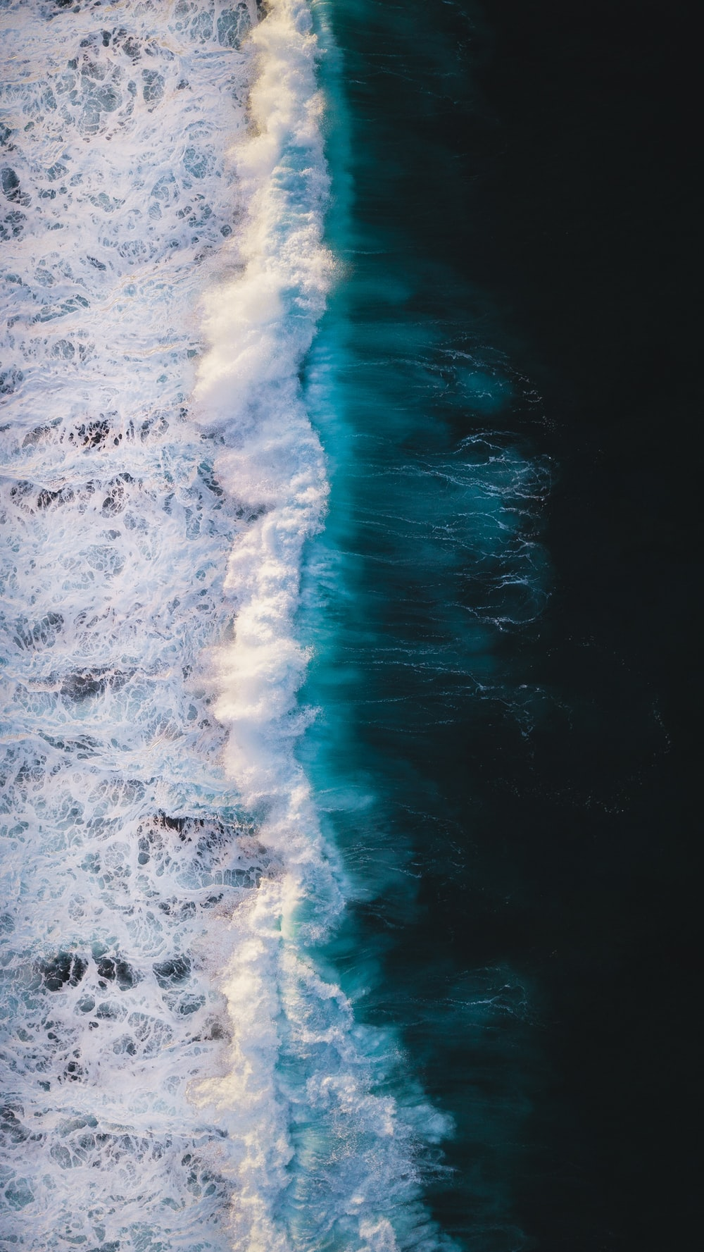 aerial view of sea