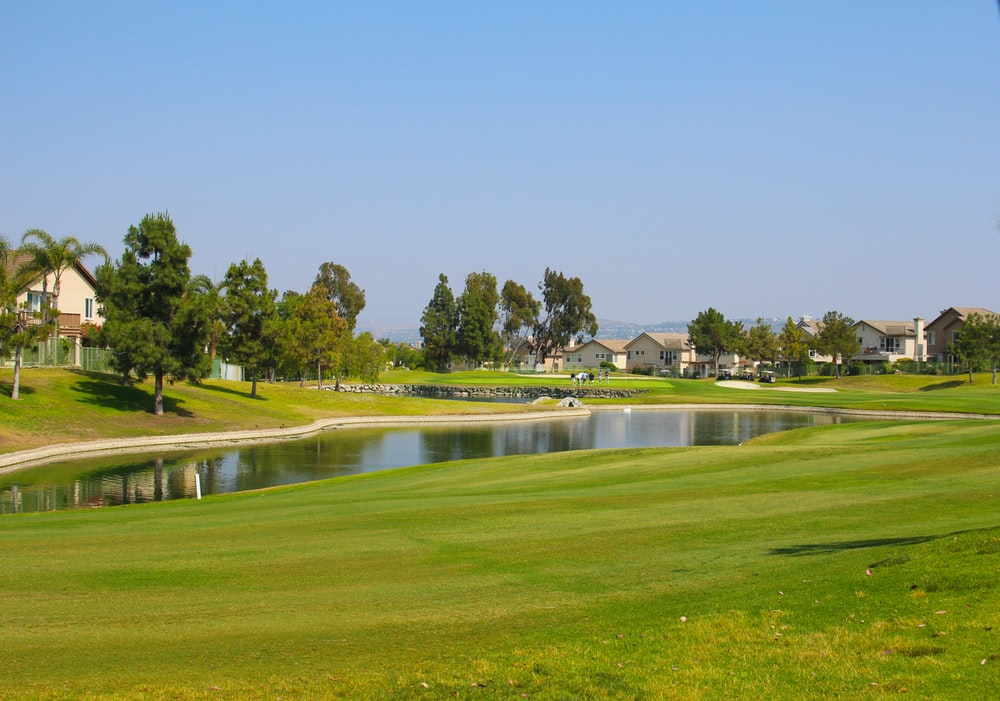 view of lagoon at the golf course