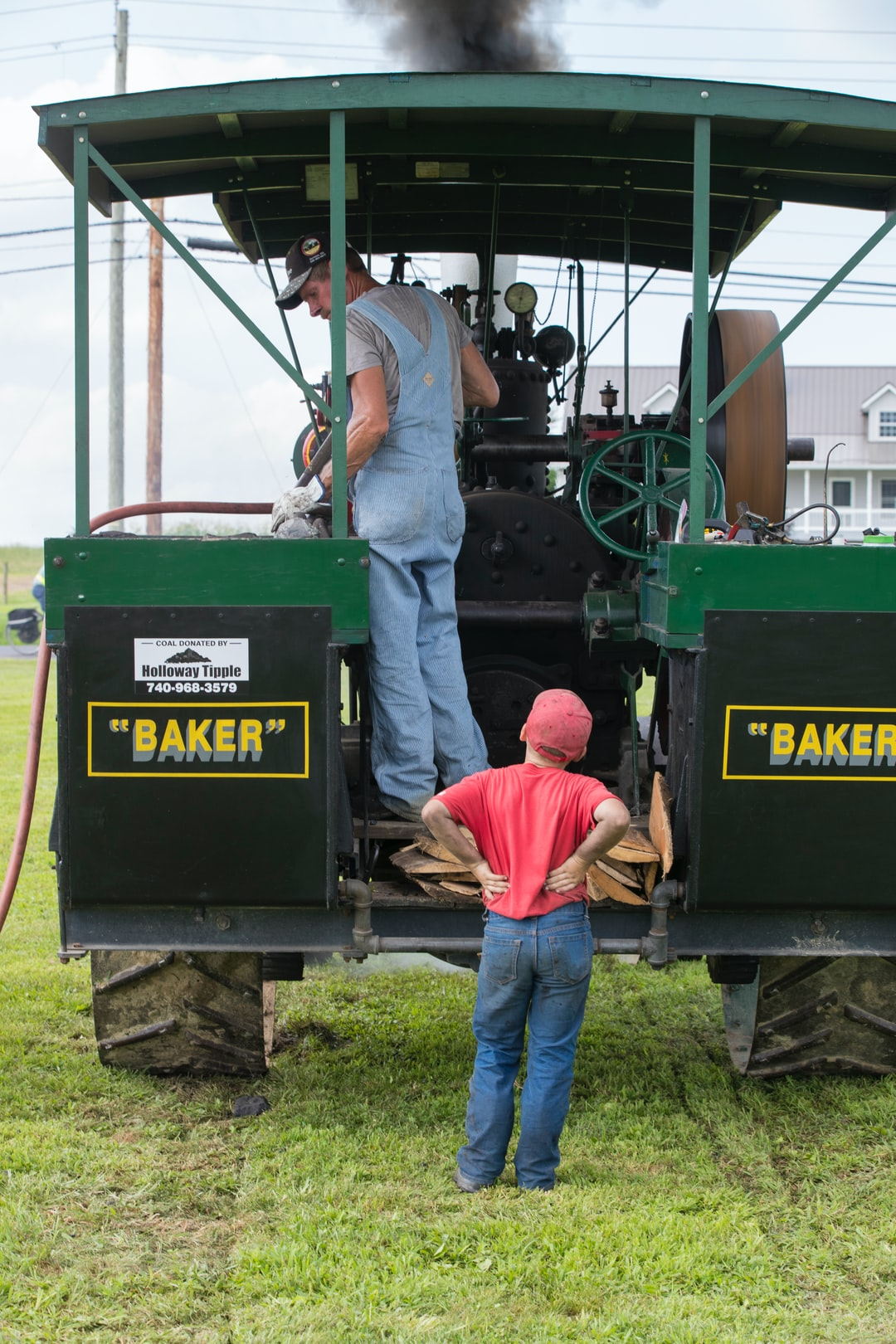 Steam show, and there is always little boys around wondering how it all works...