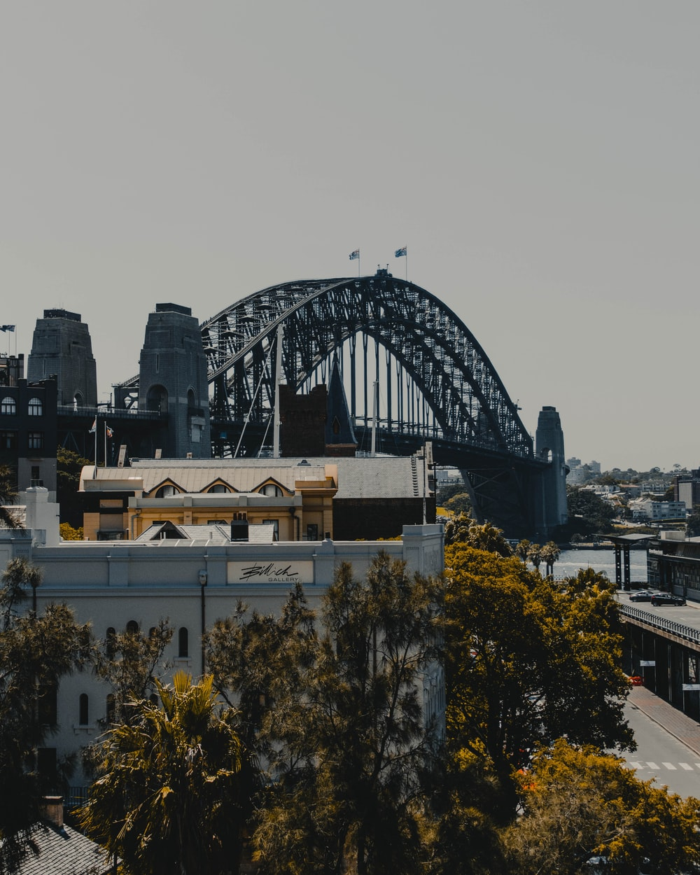 selective focus photography of black bridge during daytime