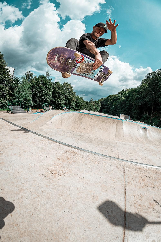 man on skateboard