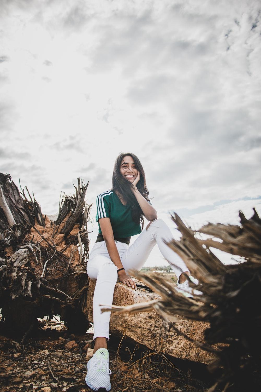 green and white shirt