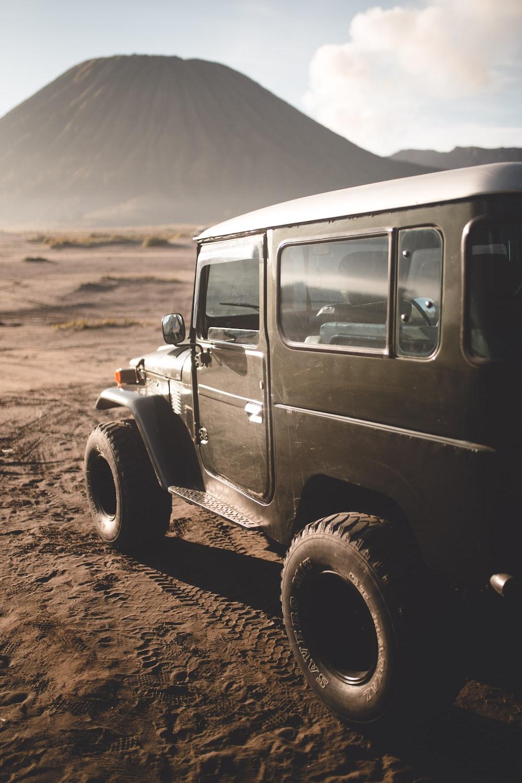 brown vehicle