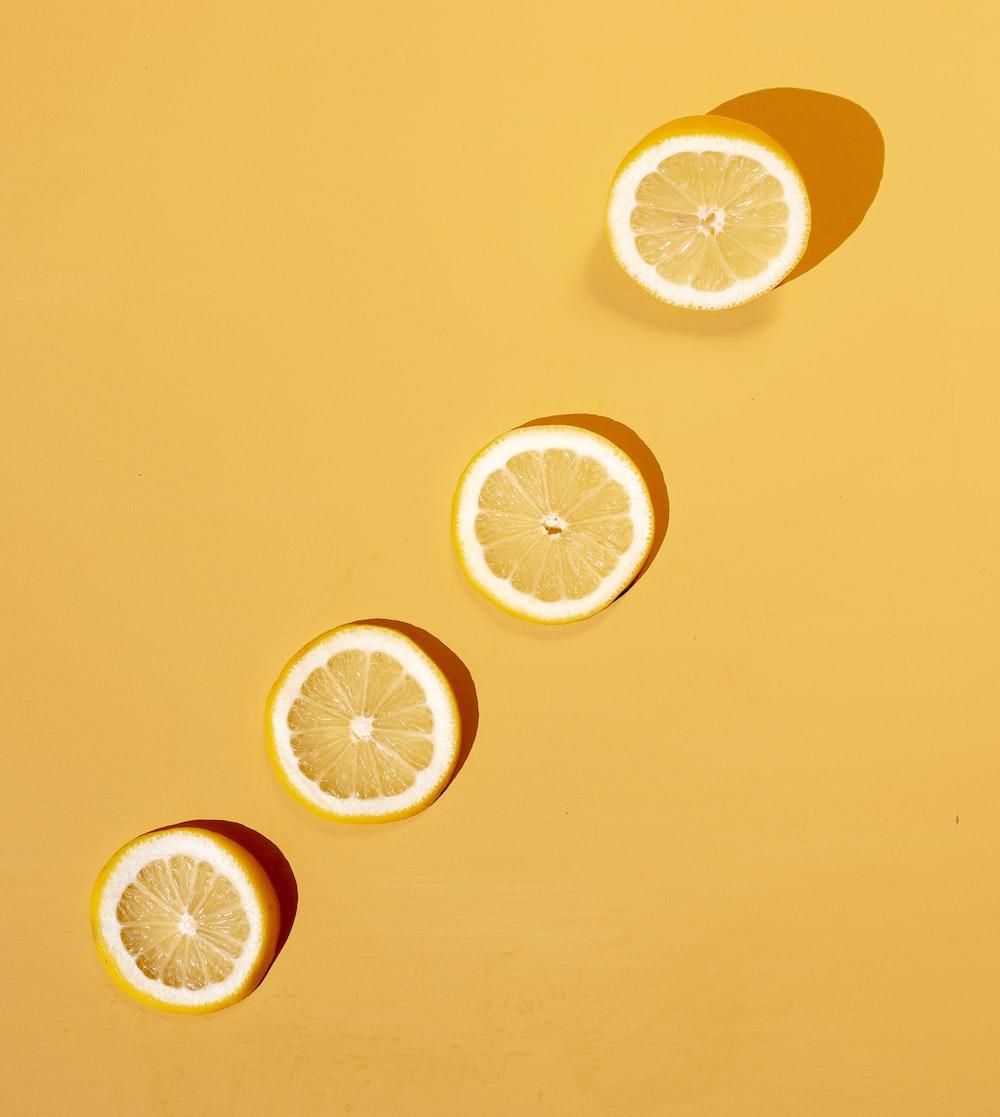 four slice of lemon fruit