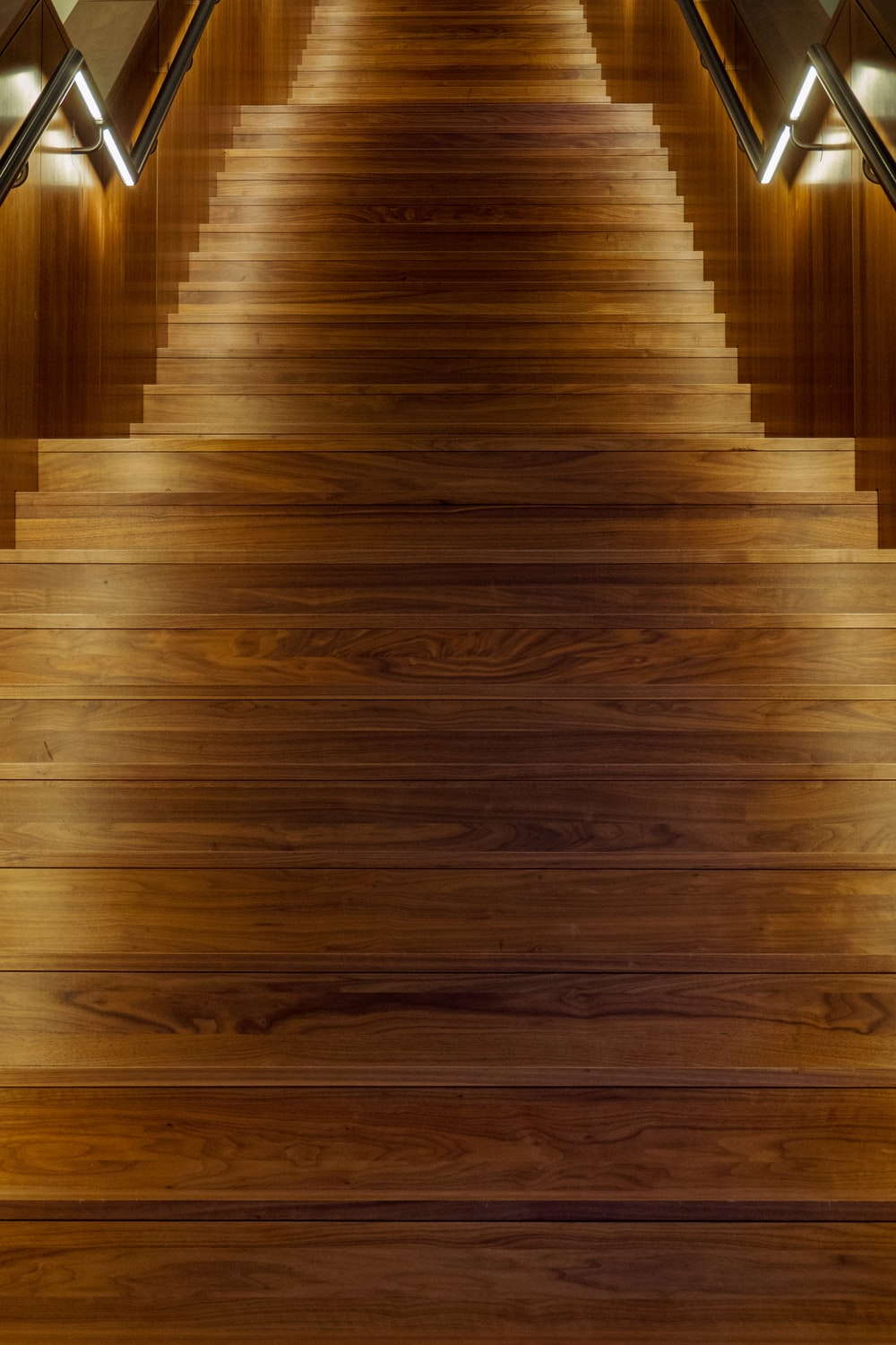 brown wooden stair