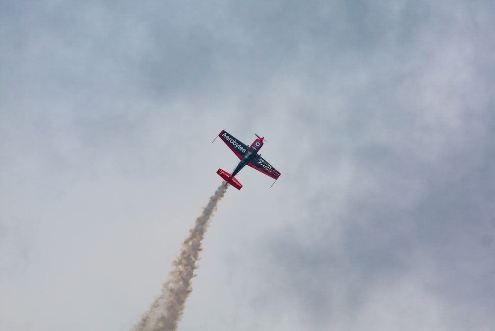 black and red monoplane