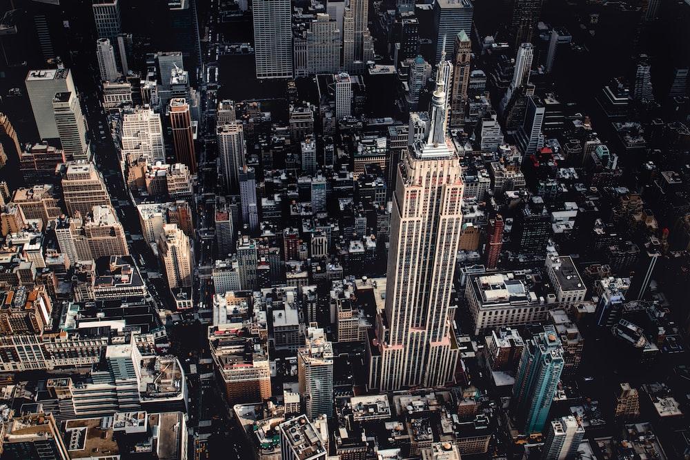 bird's eye view of Midtown, Manhattan
