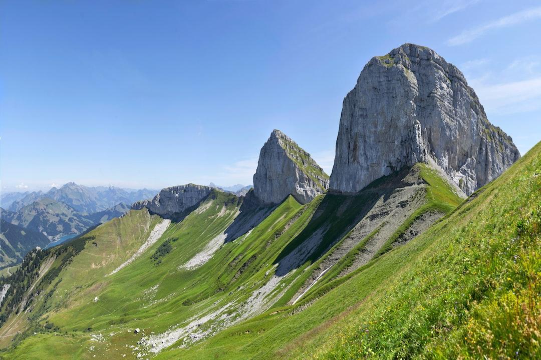 Tour d'Aï and Tour de Mayen, Canton de Vaud, Switzerland.