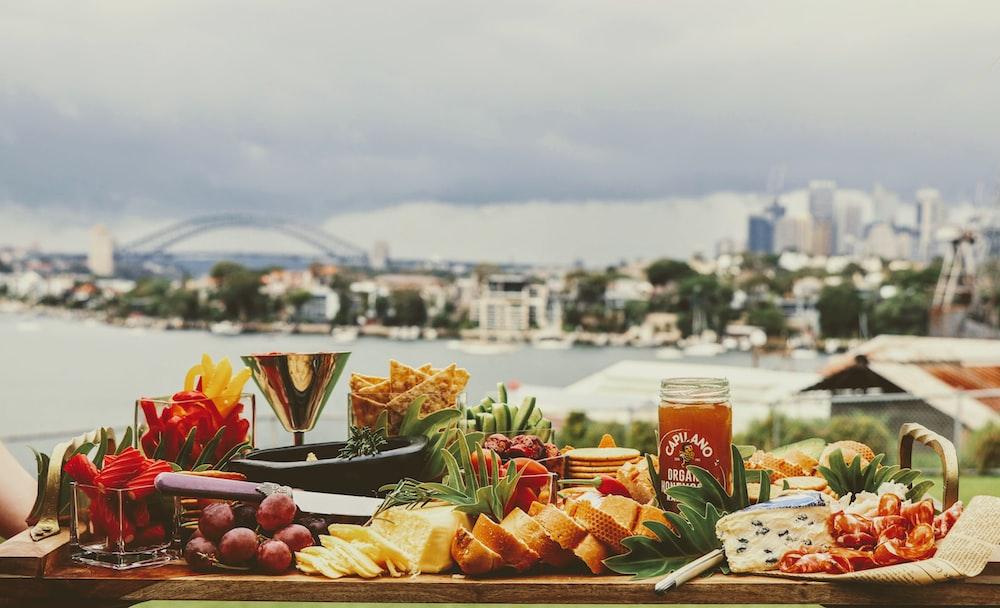 food set on table