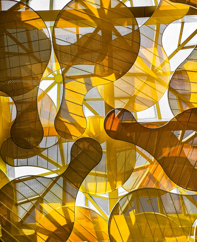 yellow glass panel