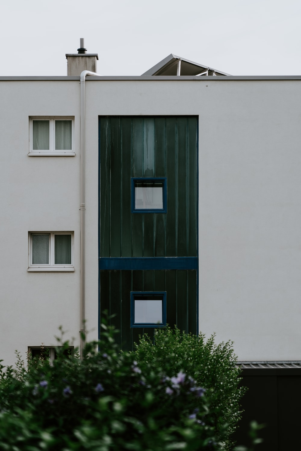 white building with windows