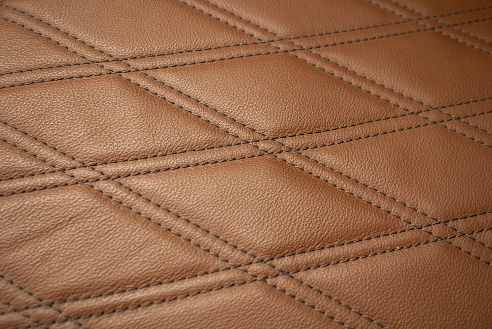 quilted brown leather