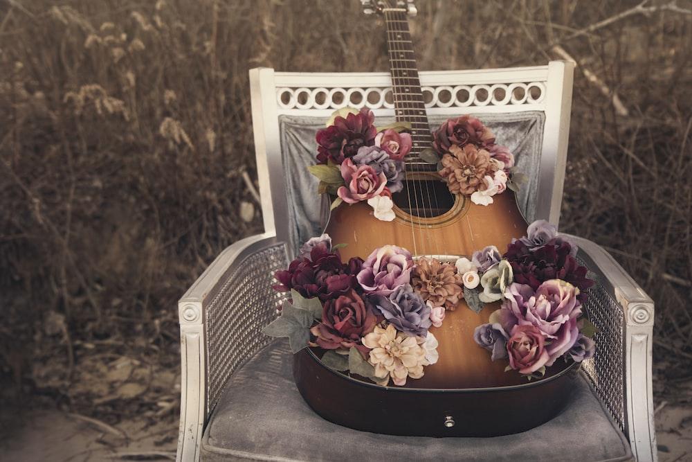 brown burst acoustic guitar