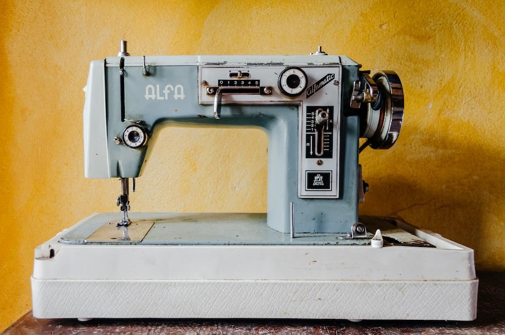 blue Alfa sewing machine