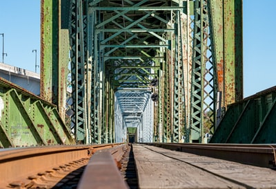 architectural photo of green and brown bridge maine zoom background