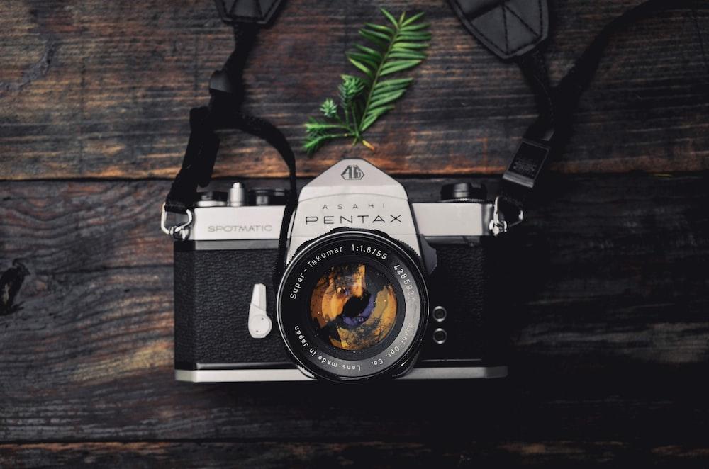 black Pentax MILC camera