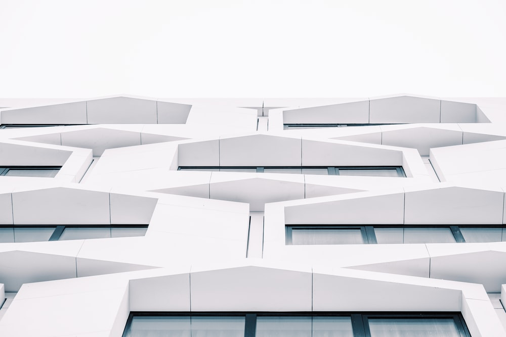 white painted concrete building