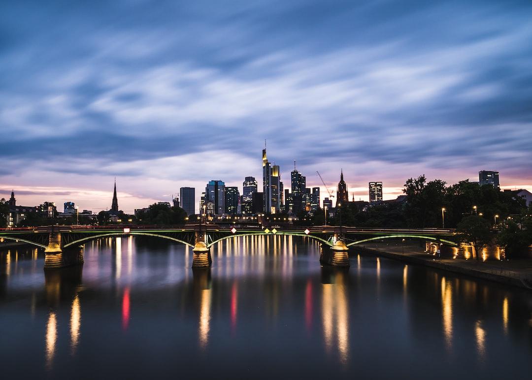 Sunset view of Frankfurt (Main).
