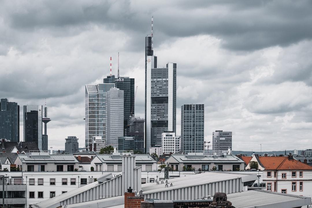 The skyline of Frankfurt (Main).