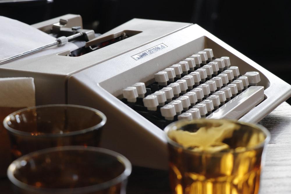 white typewriter