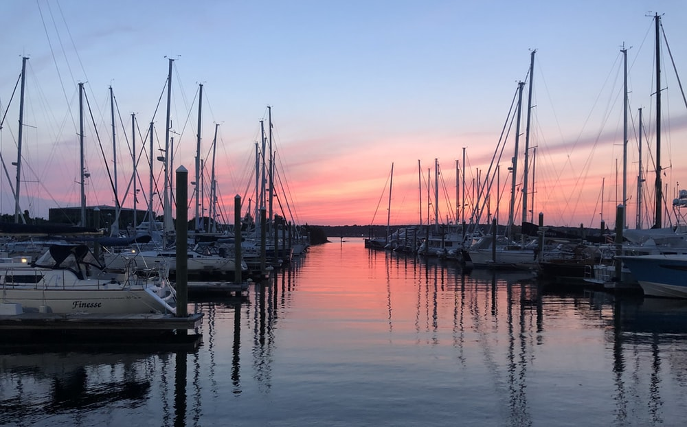 white sailboat lot