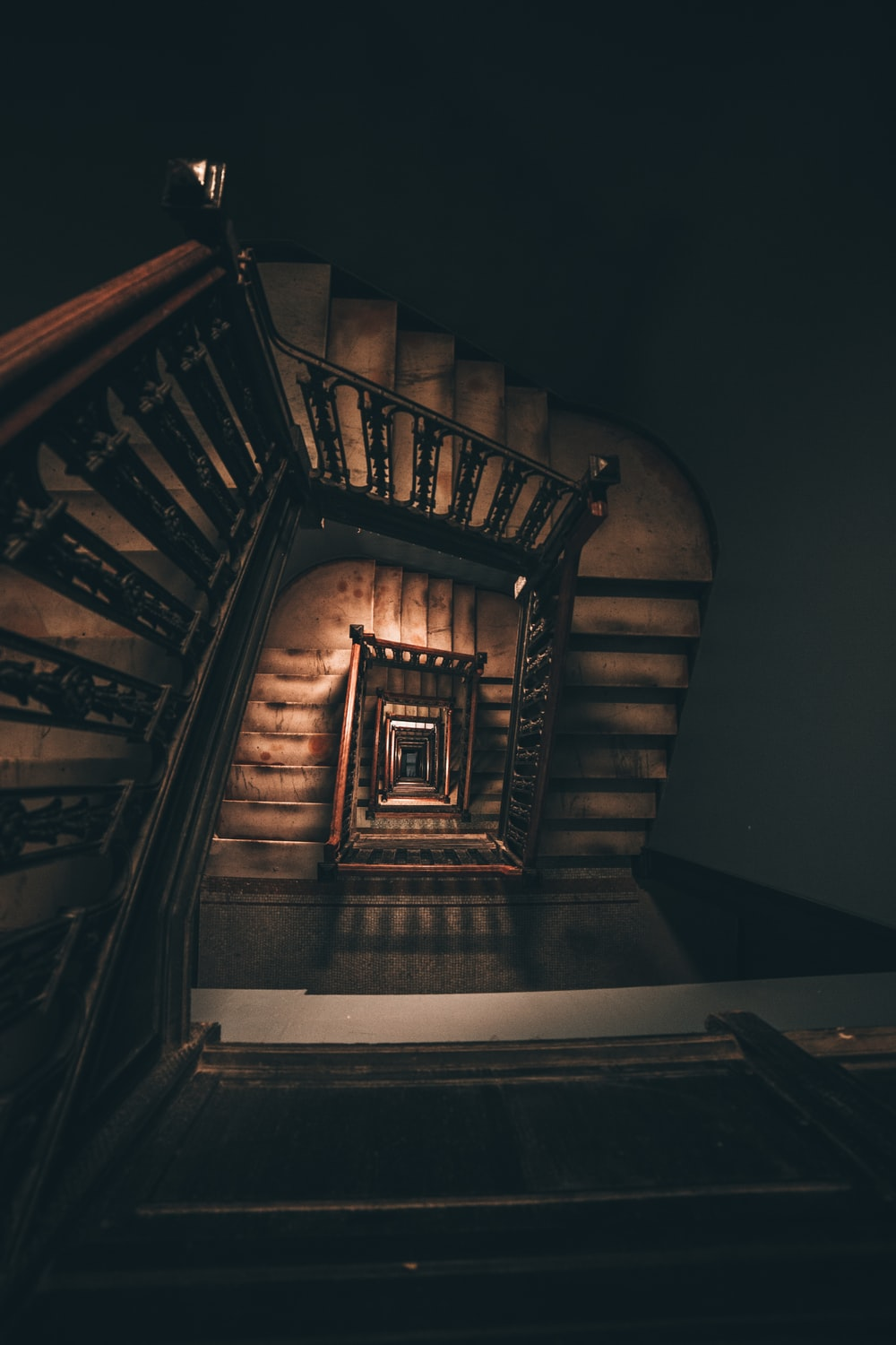 brown stairs