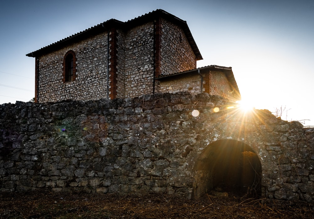 stone building during golden hour