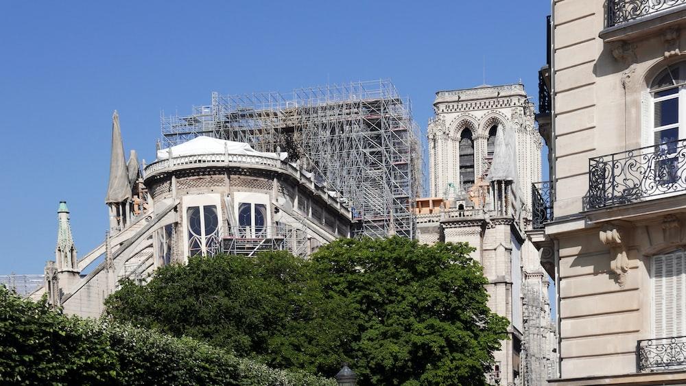 Notre Dame under construction