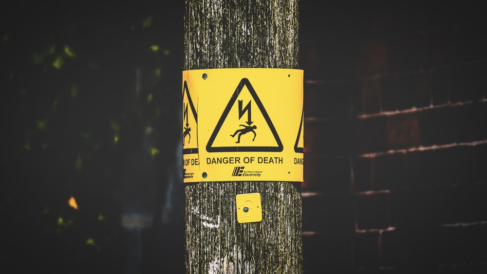 danger of death sticker