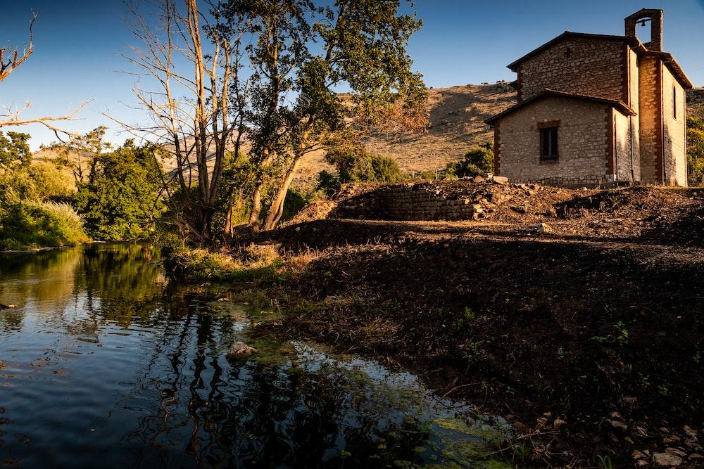 house near river