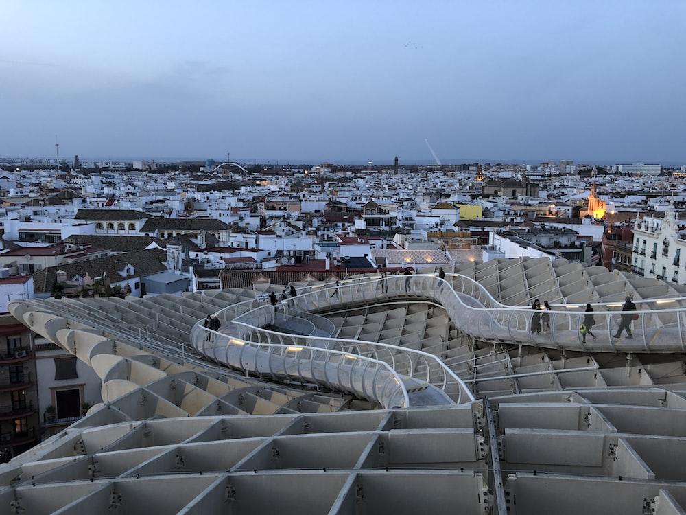 aerial photo of stadium
