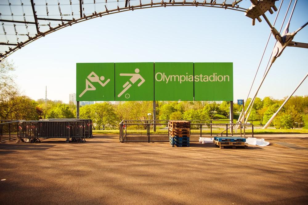 Olympia stadion signage