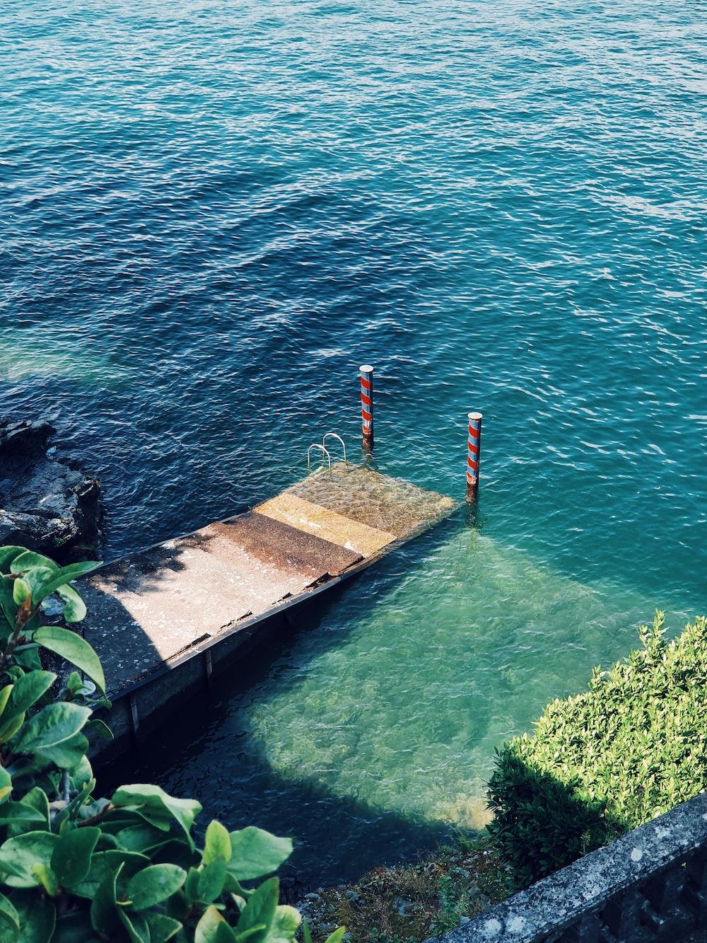brown concrete dock