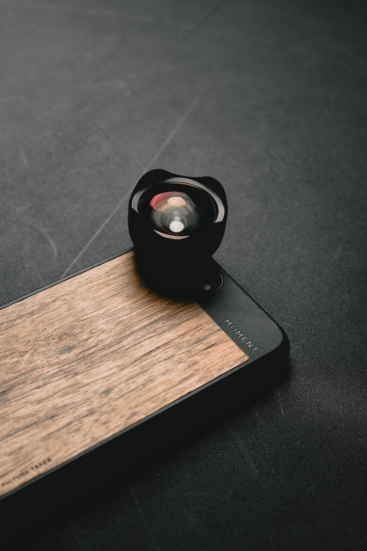 black camera lens on iPhone case