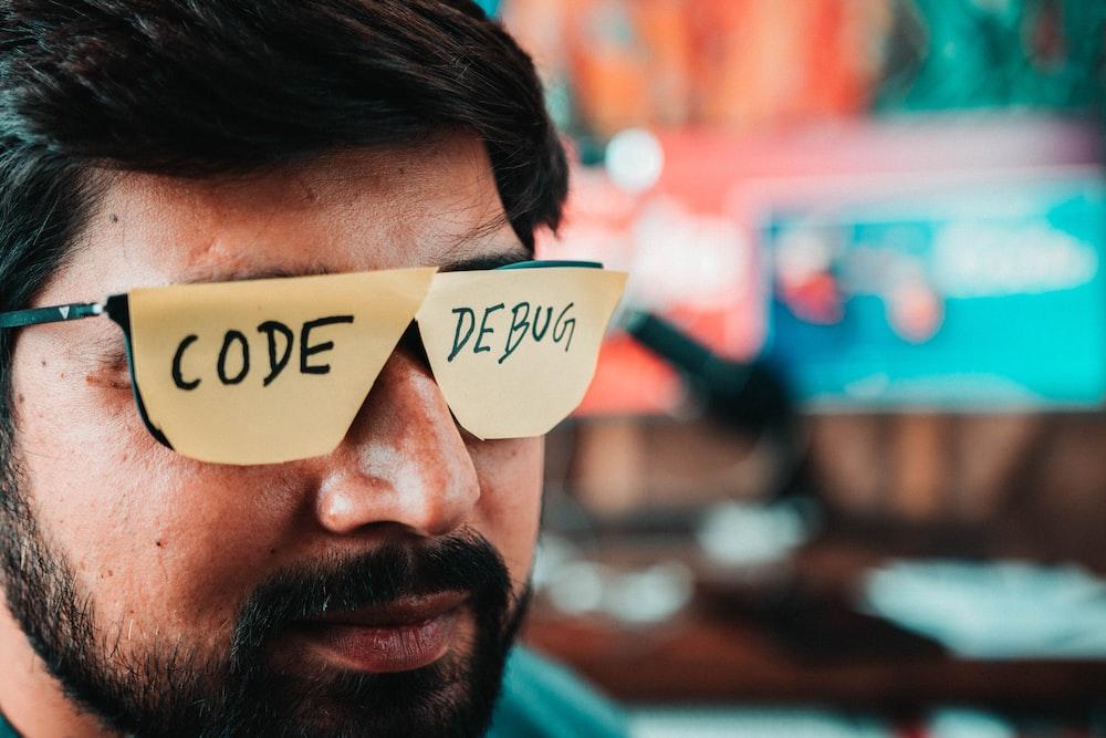 man wearing brown sunglasses