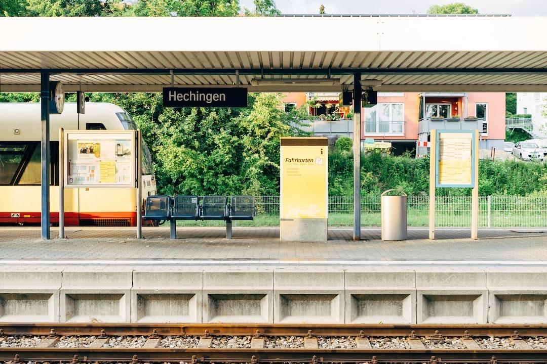 Hechingen Bahnhof – train station of the city of Hechingen, Germany
