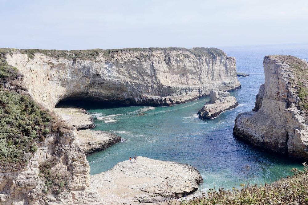 cliffs near sea