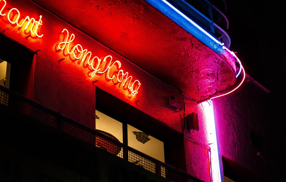 red neon signage