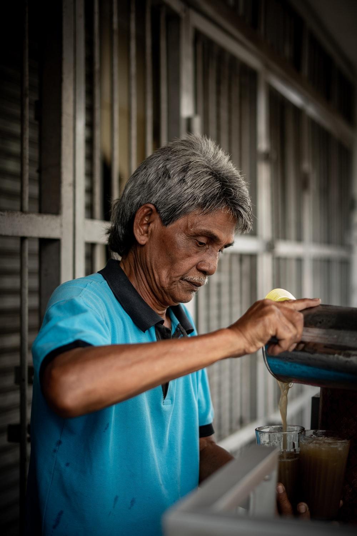 man near coffeemaker