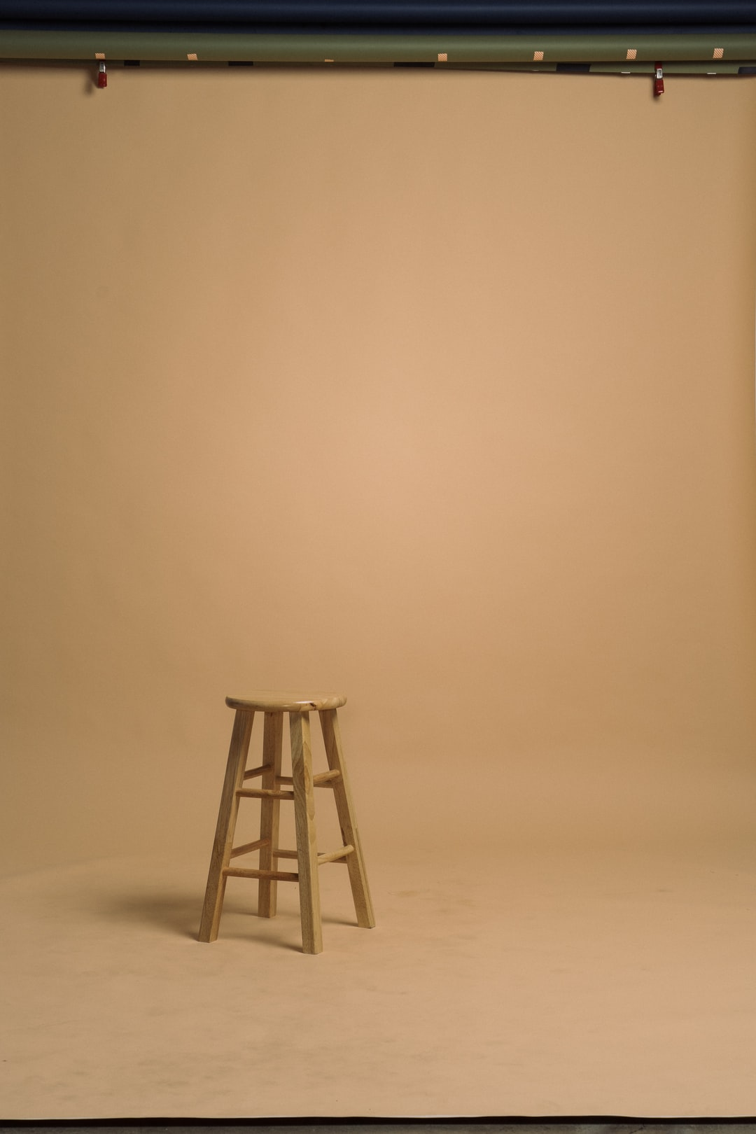 Cream seamless backdrop with stool background plate Shot by Chase Wilson http://agroism.com