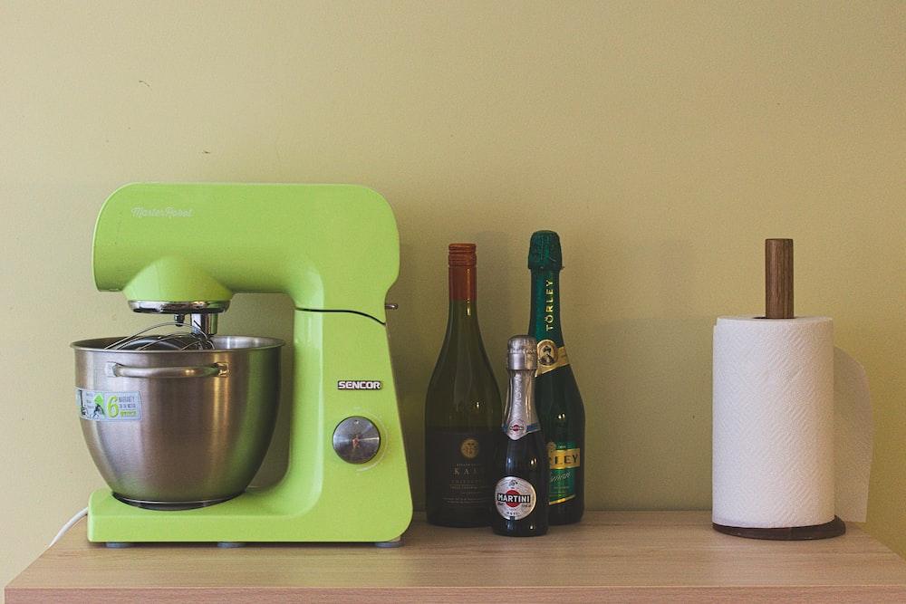 green stand mixer