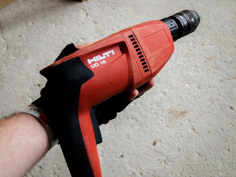 red Hilti hand drill