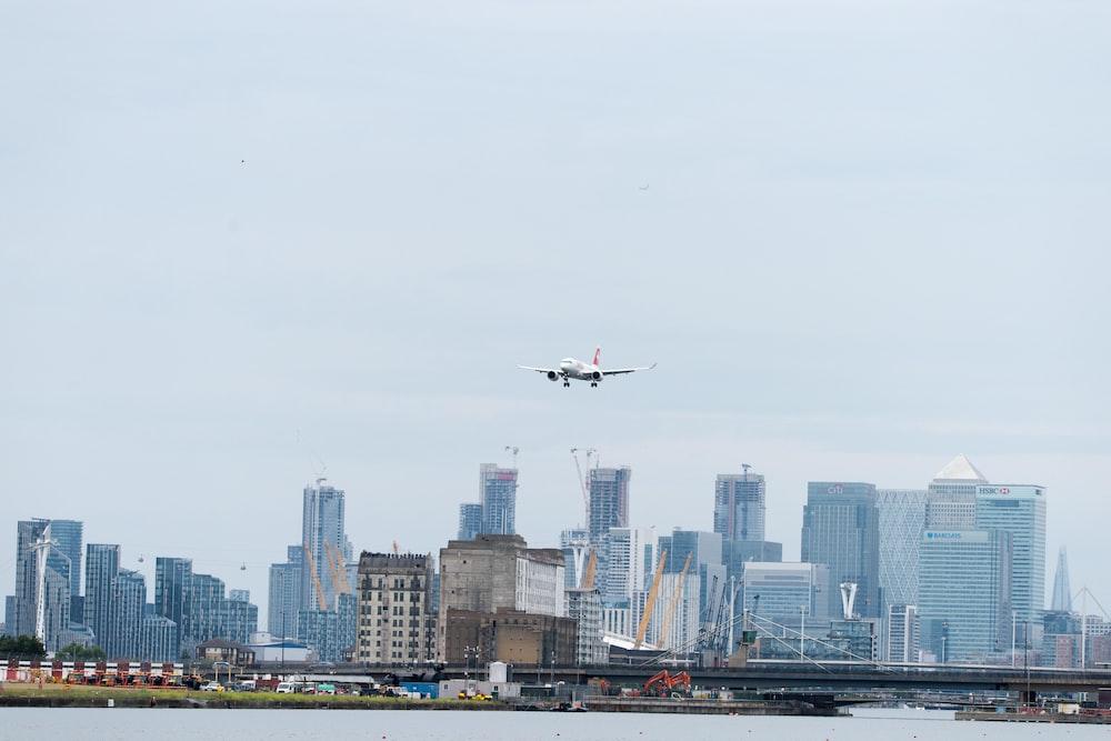 flying airplane at daytime