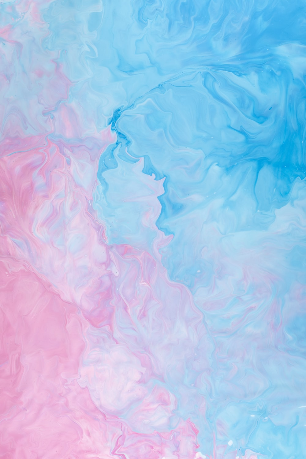 pink and blue abstract painting