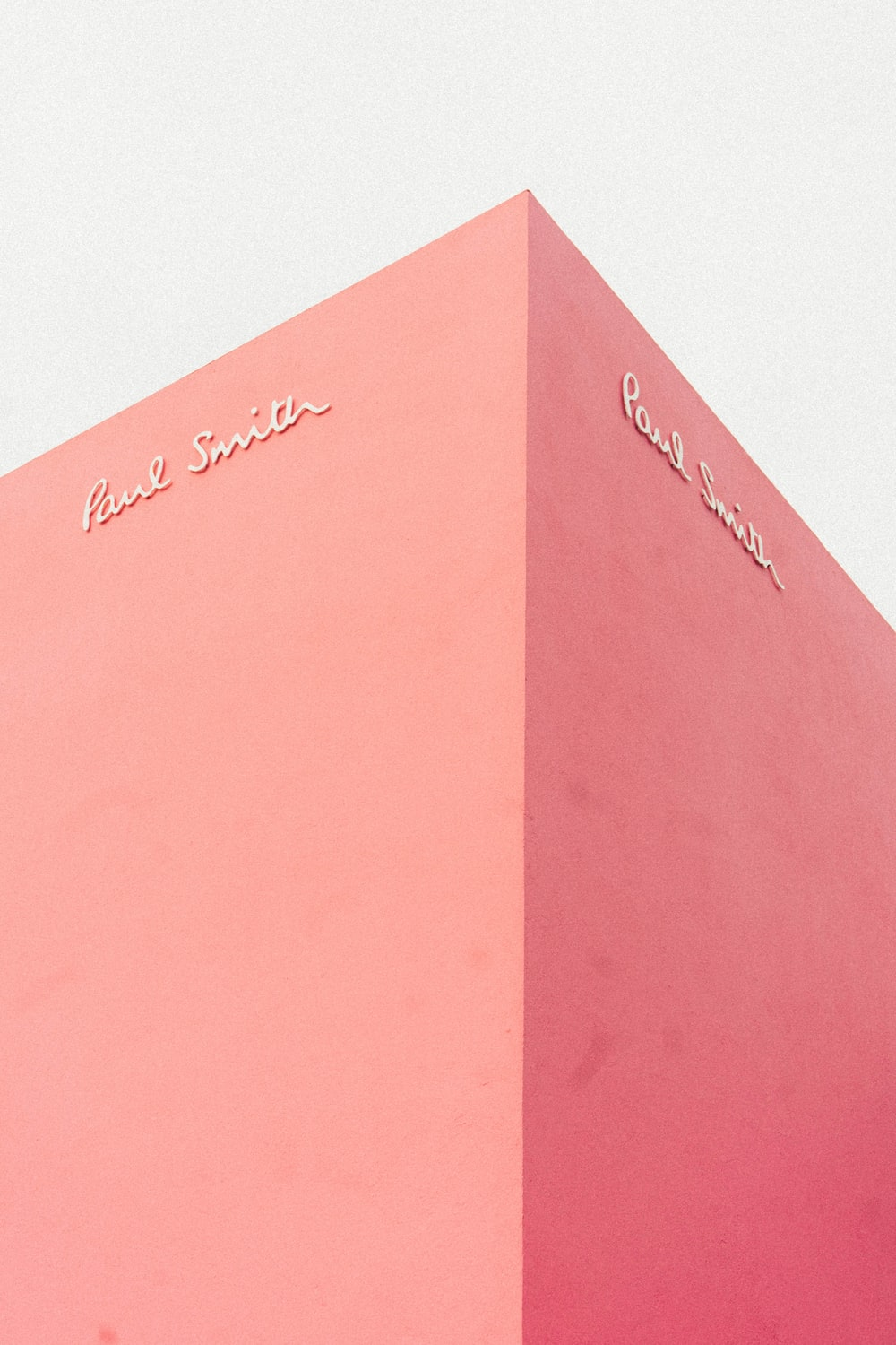 Paul Smith signage on pink wall