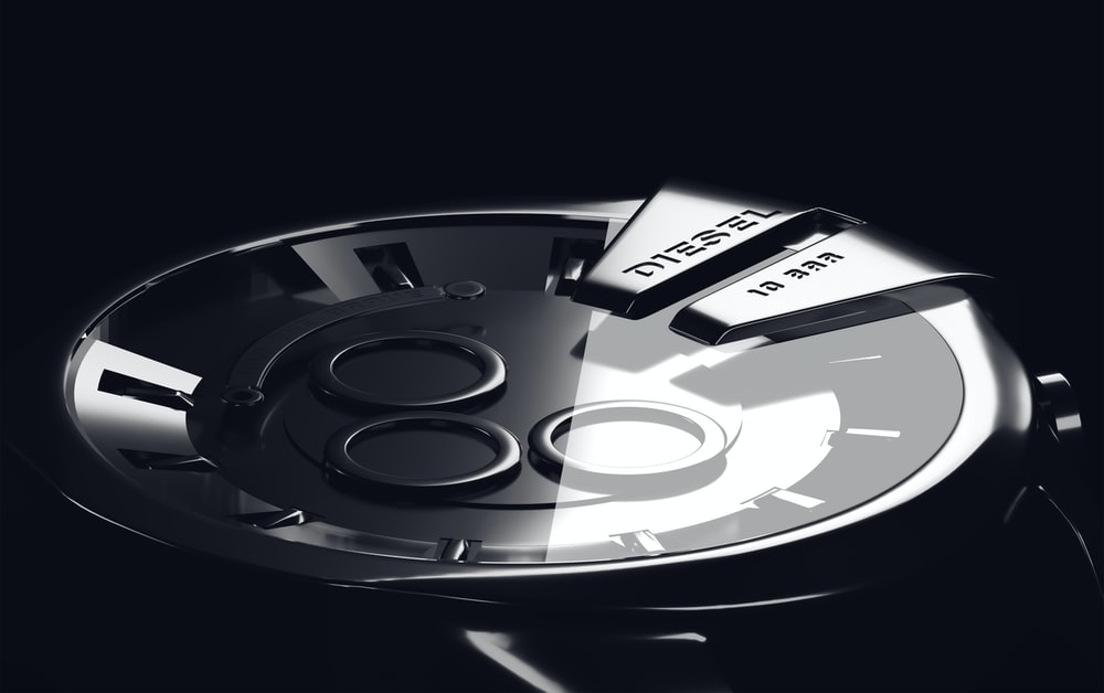 round gray watch
