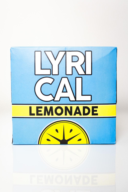 blue and yellow Lyrical lemonade box